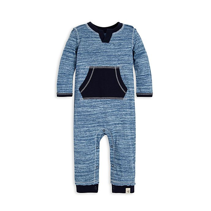7df86c4da68 Burt's Bees Baby® Space-Dye Coverall in Navy | Bed Bath & Beyond