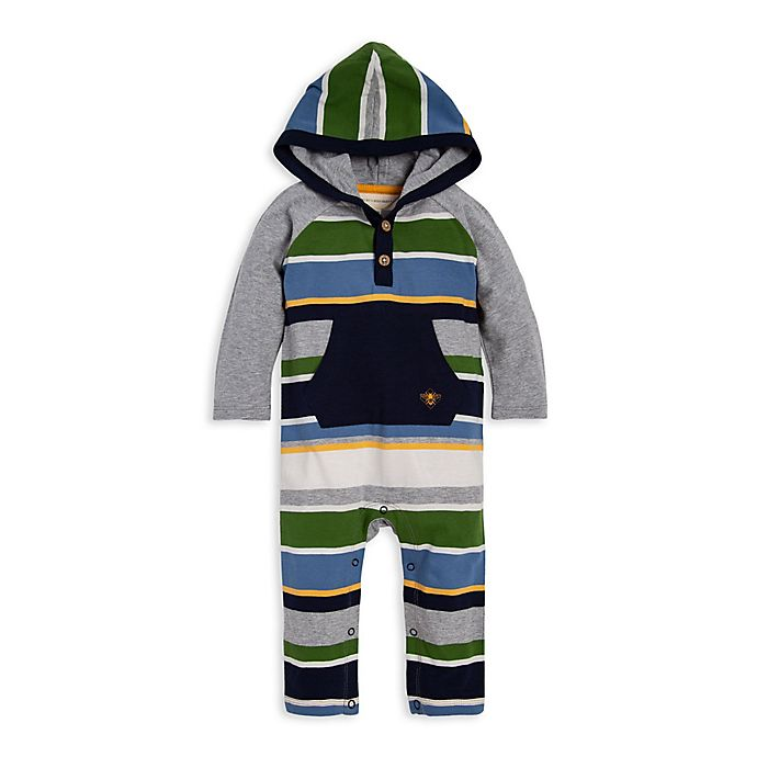 Alternate image 1 for Burt's Bees Baby® Multi Stripe Coverall