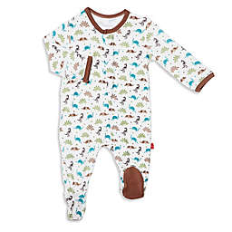 Magnetic Me by Magnificent Baby® Dinogami Footie in Brown