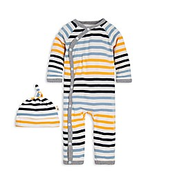 Burt's Bees Baby® Preemie Tri-Stripe Organic Cotton Kimono Coverall in Yellow