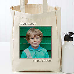 Picture Perfect Personalized Canvas Tote Bag- 1 Photo