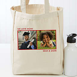 Picture Perfect Personalized Canvas Tote Bag- 2 Photo