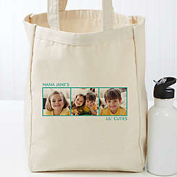Picture Perfect Personalized Canvas Tote Bag- 3 Photo
