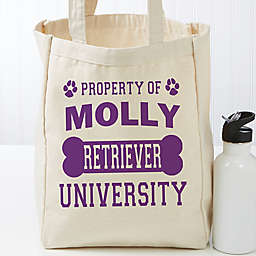 Property of…Personalized 14-Inch x 10-Inch Dog Canvas Tote Bag