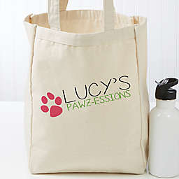 My Pawz-essions Personalized 14-Inch x 10-Inch Dog Canvas Tote Bag