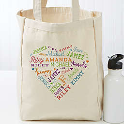 Close To Her Heart Personalized 14-Inch x 10-Inch Canvas Tote Bag