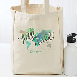 The Journey Personalized 14-Inch x 10-Inch Canvas Tote Bag
