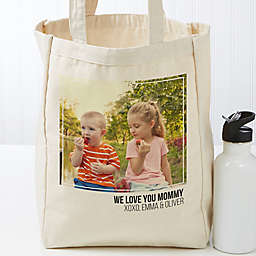 Photo Personalized 14-Inch x 10-Inch Canvas Tote Bag