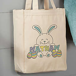 Easter Bunny Personalized 14-Inch x 10-Inch Canvas Tote Bag
