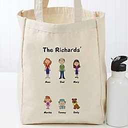 Character Collection Personalized 14-Inch x 10-Inch Canvas Tote Bag