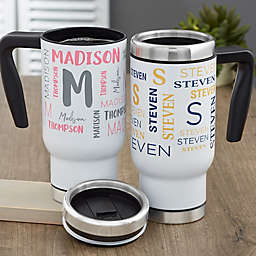 Notable Name Personalized 14 oz. Commuter Travel Mug