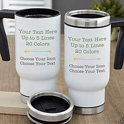Your Text Here Personalized Commuter Travel Mug