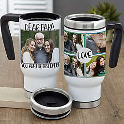 Love Photo Collage Personalized 14 oz. Commuter Travel Mug