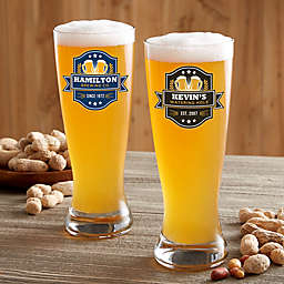 Watering Hole Personalized Pilsner Beer Glass