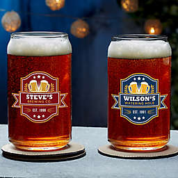 Watering Hole Personalized Beer Can Glass