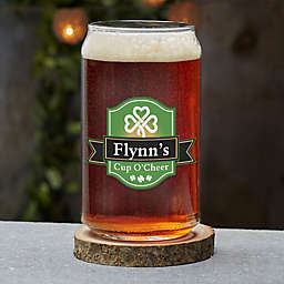 Cup O' Cheer Irish Personalized 16 oz. Beer Can Glass