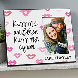 Kiss Me Personalized Picture Frame