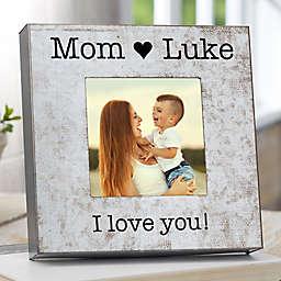 I Love Mom Galvanized Box Frame