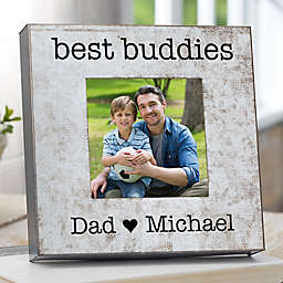 I Love Dad Galvanized Box Frame