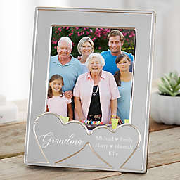 Her Heart Personalized Silver Picture Frame