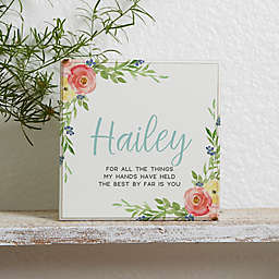 Floral Baby Personalized Shelf Block