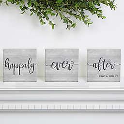 Fairy-tale Life Personalized Shelf Blocks- Set of 3