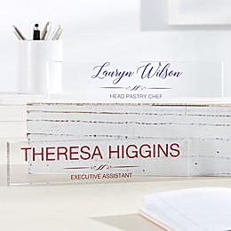 Executive Personalized Acrylic Name Plate