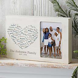 Farmhouse Heart Personalized Whitewashed Off-Set Frame