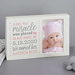 Baby Girl's Story Personalized Whitewashed Off-Set Frame