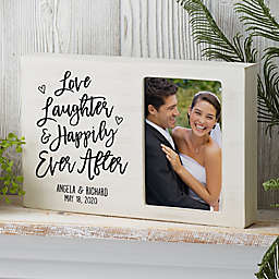 Ever After Personalized Whitewashed Off-Set Frame