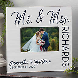 Stamped Elegance Wedding Personalized Picture Frame Box- Horizontal