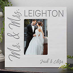 Stamped Elegance Wedding Personalized Picture Frame Box- Vertical