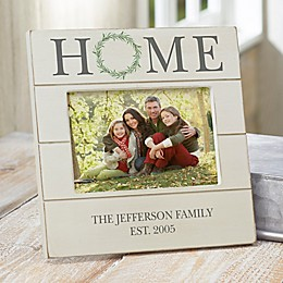 Home Wreath Personalized Family Shiplap Frame