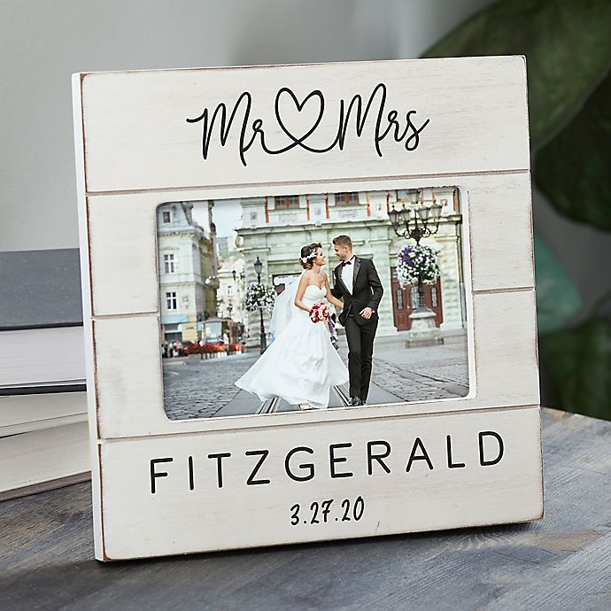 Alternate image 1 for Infinite Love Personalized Wedding Shiplap Picture Frame