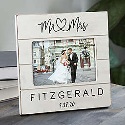 Infinite Love Personalized Wedding Shiplap Picture Frame