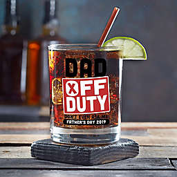 Off Duty Father's Day Personalized 14 oz. Whiskey Glass