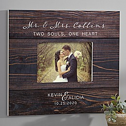 Rustic Elegance Personalized Wedding 5-Inch x 7-Inch Wall Frame