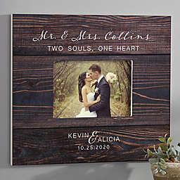 Rustic Elegance Personalized Wedding 5-Inch x 7-Inch Wall Frame