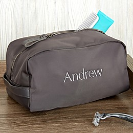 Water Resistant Embroidered Travel Toiletry Bag