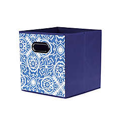 Relaxed Living Medallion Burst 11-Inch Square Collapsible Storage Bin