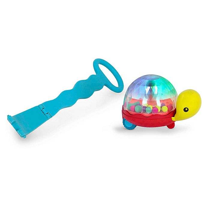 Alternate image 1 for B. Walk 'n' Pop Light Up Popping Turtle Push Along Toy