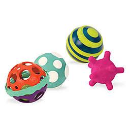 B. 3-Piece Textured Multicolor Ball Set
