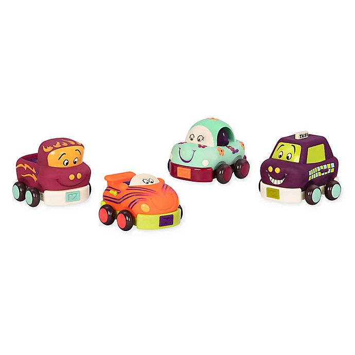 Alternate image 1 for B. 4-Piece Wheeels Soft Cars