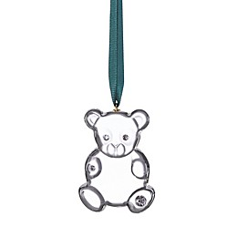 kate spade new york Baby's First Christmas Ornament in Clear Glass