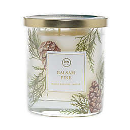 DW Home Balsam Pine Jar Candle in Green/Gold