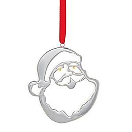 Nambe Santa Head Ornament in Silver/Gold