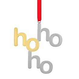 Nambe Ho Ho Ho Ornament in Silver/Gold