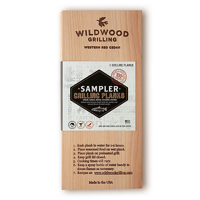 Alternate image 1 for Wildwood Grilling 5-Pack Sampler Grilling Planks