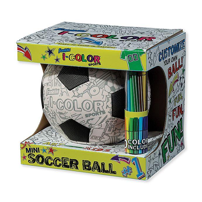 Alternate image 1 for Franklin® Sports I-Color Mini Soccer Ball in Black/White