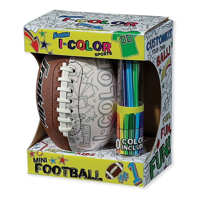 Alternate image 1 for Franklin® Sports I-Color Mini Football in Brown